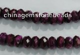 CTE980 15.5 inches 5*8mm faceted rondelle dyed red tiger eye beads