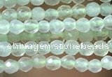 CTG1045 15.5 inches 2mm faceted round tiny prehnite gemstone beads