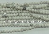 CTG105 15.5 inches 2mm round tiny white turquoise beads wholesale