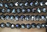 CTG1085 15.5 inches 2mm faceted round tiny hematite beads