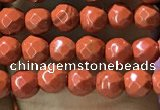 CTG1159 15.5 inches 3mm faceted round tiny red jasper beads