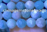 CTG1214 15.5 inches 4mm faceted round tiny amazonite beads