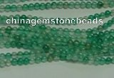 CTG122 15.5 inches 2mm round tiny green agate beads wholesale