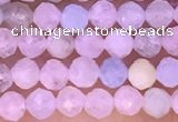 CTG1301 15.5 inches 3mm faceted round morganite gemstone beads