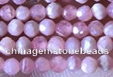 CTG1321 15.5 inches 2mm faceted round rhodochrosite beads wholesale