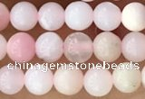 CTG1363 15.5 inches 4mm round pink opal gemstone beads