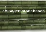 CTG1374 15.5 inches 1.5*2.5mm tube tiny green jade beads