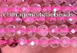 CTG1406 15.5 inches 2mm faceted round strawberry quartz beads