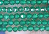 CTG1463 15.5 inches 2mm faceted round green agate beads