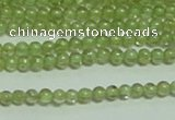 CTG149 15.5 inches 3mm round tiny peridot gemstone beads wholesale