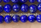 CTG1598 15.5 inches 4mm round lapis lazuli beads wholesale