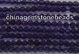 CTG205 15.5 inches 3mm faceted round tiny amethyst gemstone beads