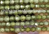 CTG2102 15 inches 2mm faceted round tiny quartz glass beads