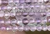 CTG2127 15 inches 2mm,3mm faceted round purple fluorite gemstone beads