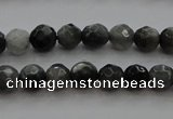 CTG216 15.5 inches 3mm faceted round tiny eagle eye jasper beads