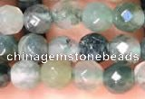 CTG2221 15 inches 2mm,3mm & 4mm faceted round moss agate beads