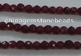 CTG405 15.5 inches 2mm faceted round tiny dyed candy jade beads