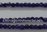 CTG411 15.5 inches 2mm faceted round tiny dyed candy jade beads