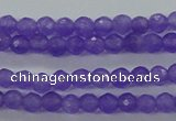 CTG421 15.5 inches 3mm faceted round tiny dyed candy jade beads