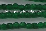 CTG422 15.5 inches 3mm faceted round tiny dyed candy jade beads
