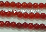 CTG52 15.5 inches 2mm round grade AA tiny red agate beads wholesale