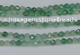 CTG627 15.5 inches 2mm faceted round green strawberry quartz beads