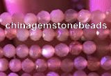 CTG737 15.5 inches 3mm faceted round tiny sunstone beads