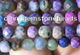 CTG793 15.5 inches 5mm faceted round tiny chrysocolla beads
