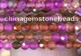 CTG840 15.5 inches 2mm faceted round tourmaline gemstone beads
