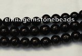 CTO101 15.5 inches 6mm round natural black tourmaline beads