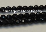 CTO108 15.5 inches 8mm faceted round natural black tourmaline beads