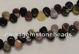 CTO37 15.5 inches 5*8mm flat teardrop natural tourmaline beads