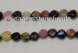 CTO39 15.5 inches 7*7mm heart natural tourmaline beads wholesale