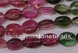 CTO420 15 inches 6*7mm oval natural tourmaline beads wholesale