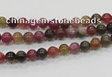 CTO60 15.5 inches 4mm round natural tourmaline gemstone beads