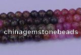 CTO620 15.5 inches 4mm round tourmaline gemstone beads wholesale