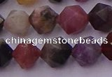 CTO651 15.5 inches 8mm faceted nuggets tourmaline gemstone beads