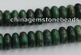 CTP07 15.5 inches 6*12mm rondelle yellow green pine gemstone beads