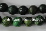CTP204 15.5 inches 12mm round yellow pine turquoise beads wholesale