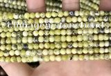 CTP220 15.5 inches 4mm round yellow turquoise beads wholesale