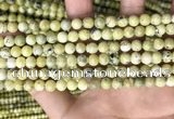 CTP221 15.5 inches 6mm round yellow turquoise beads wholesale