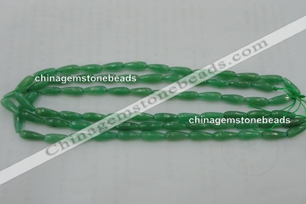 CTR07 15.5 inches 6*16mm faceted teardrop green aventurine beads