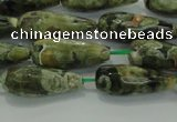 CTR101 15.5 inches 8*20mm faceted teardrop rhyolite gemstone beads