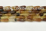 CTR401 15.5 inches 8*20mm teardrop agate beads wholesale