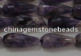 CTR94 15.5 inches 8*20mm faceted teardrop dogtooth amethyst beads