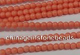 CTU1310 15.5 inches 3mm round synthetic turquoise beads