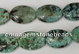 CTU2476 15.5 inches 13*18mm oval African turquoise beads wholesale