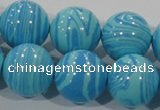 CTU2587 15.5 inches 18mm round synthetic turquoise beads
