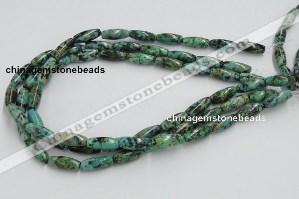 CTU409 15.5 inches 8*12mm rice African turquoise beads wholesale