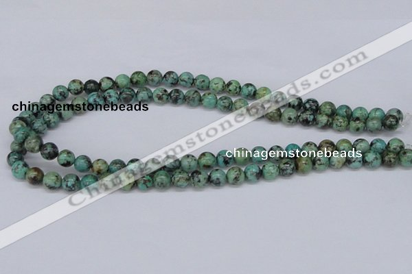 CTU427 15.5 inches 8mm round African turquoise beads wholesale